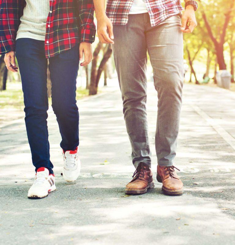 Beine, die laufen