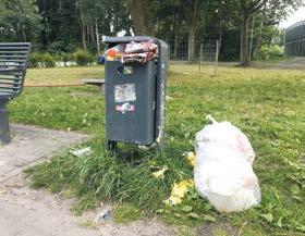 Müll und Vandalismus