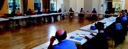 Sitzung des Arbeitskreises Kreyenbrück unter Corona Bedingungen im Gemeindehaus St. Johannes.